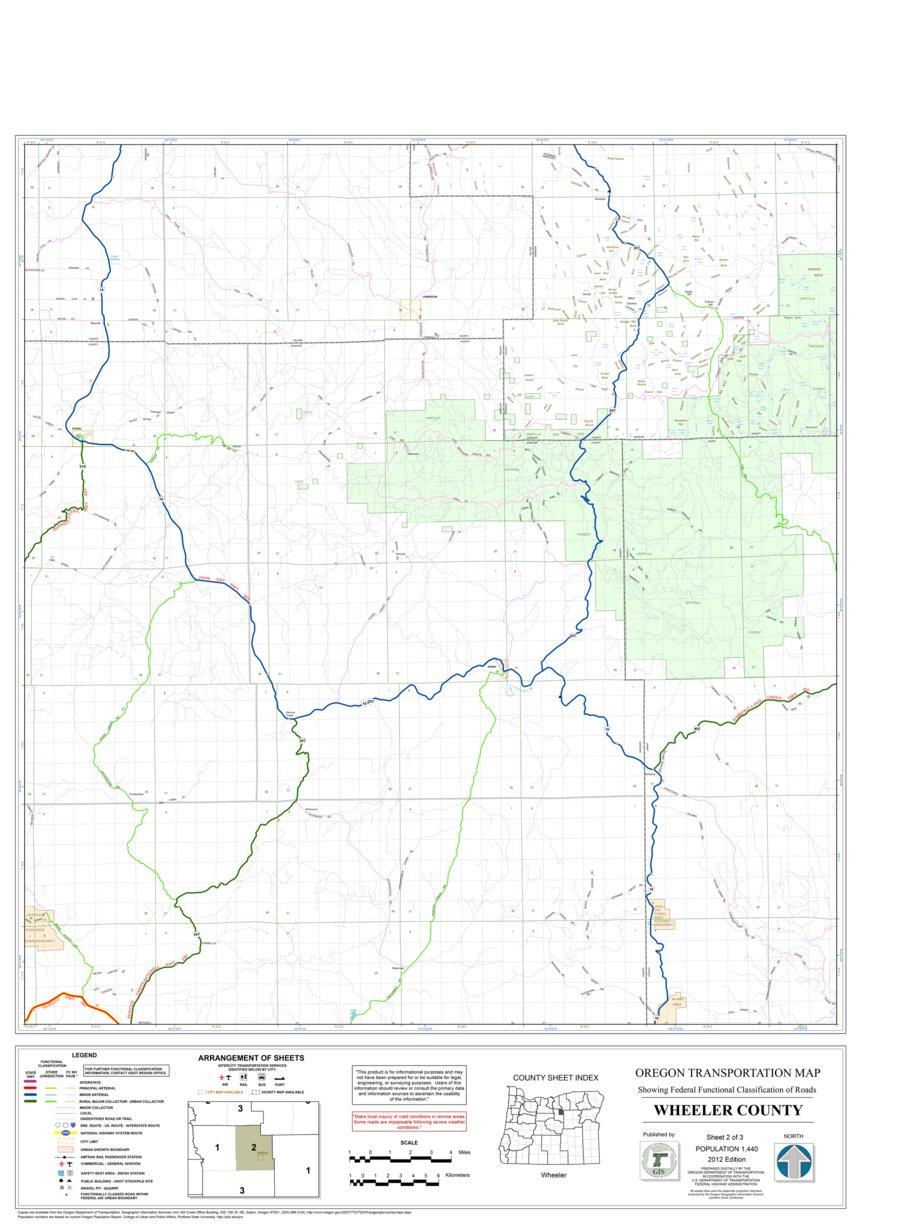 Wheeler Oregon Map.Wheeler County Sheet 2 Avenza Systems Inc Avenza Maps