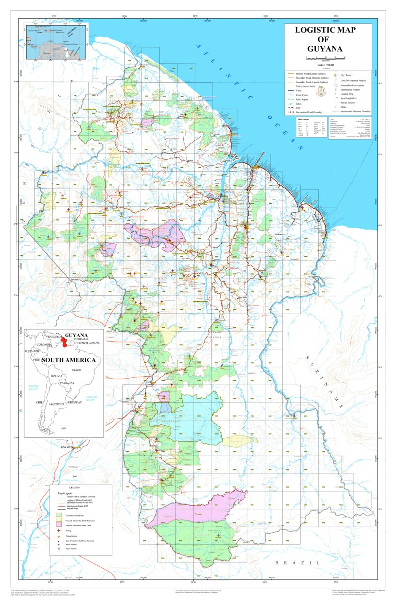 Logistic Map of Guyana - Avenza Systems Inc. - Avenza Maps