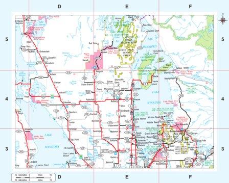 Manitoba Highways Lake Winnipeg Area Avenza Systems Inc