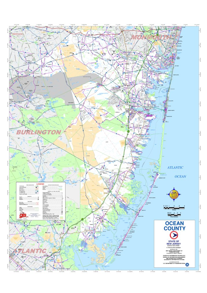 Ocean County - New Jersey - Avenza Systems Inc. - Avenza Maps on