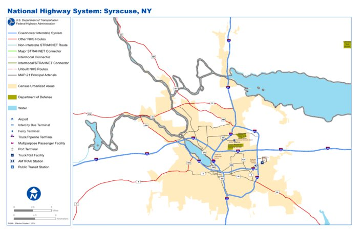 Highway Map of Syracuse New York Avenza Systems Inc Avenza Maps