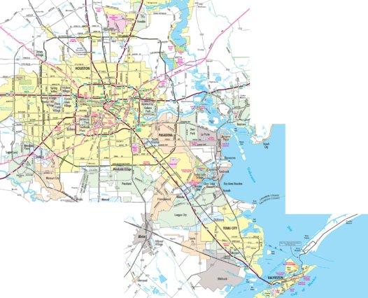 Highway Map of Houston - Texas Area - Avenza Systems Inc. - Avenza Maps
