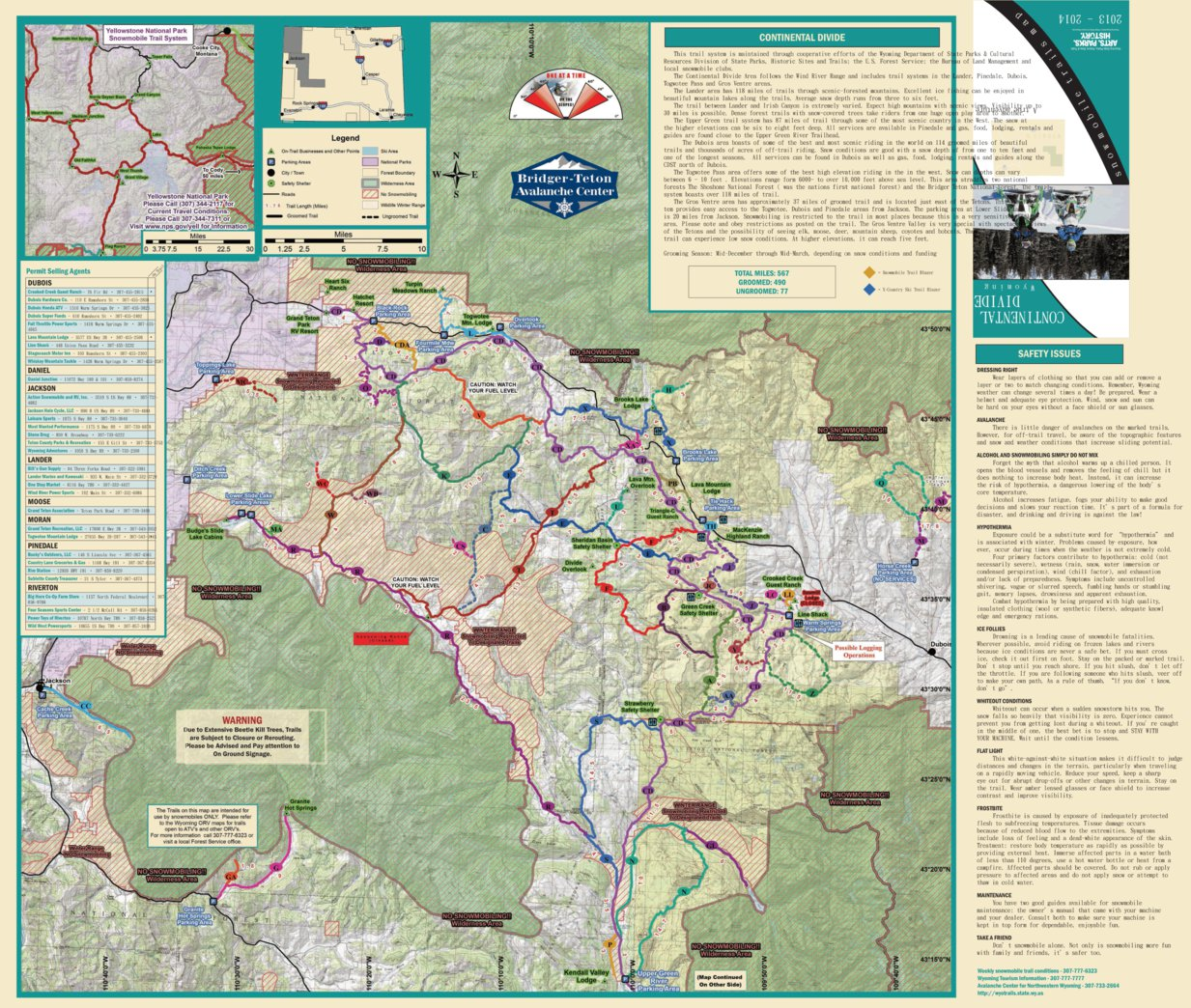 Continental Divide   Wyoming Trail Map   Avenza Systems Inc