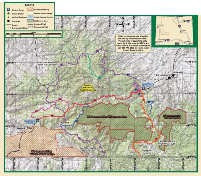 Sierra Madre Mountains On World Map.Sierra Madre Mountains Wyoming Trails Map Avenza Systems Inc