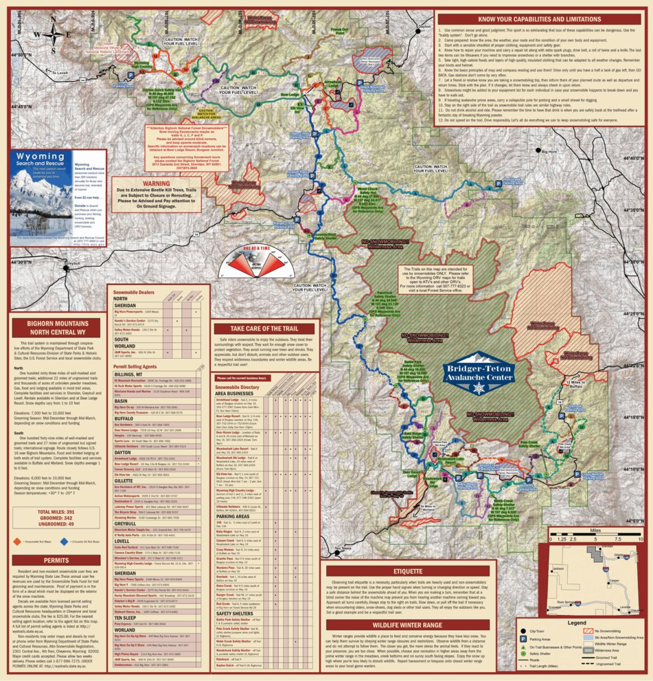 Trail Map For Bighorn Mountains Wyoming Avenza Systems Inc