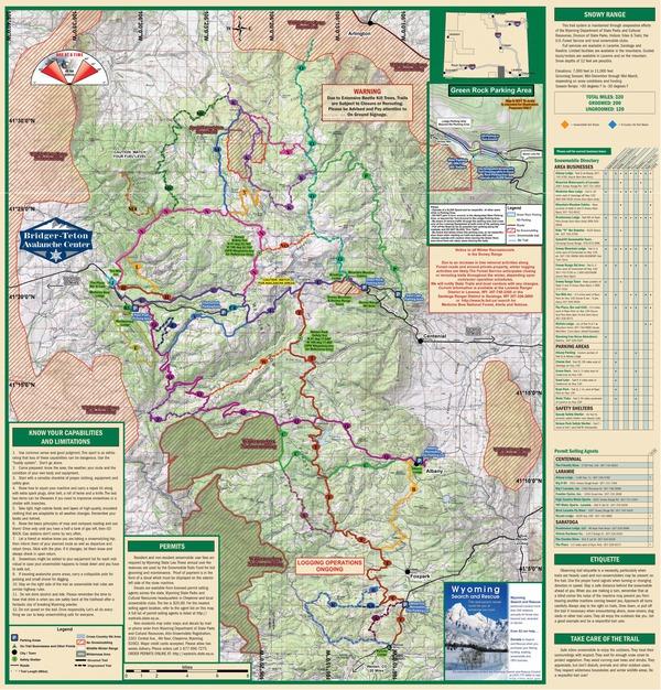 Snowy Range - Wyoming Trail Map