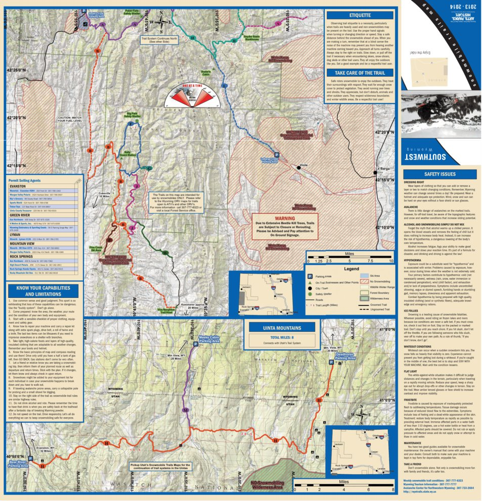 Southwest Wyoming (Uinta Mountains) Trails Map - Avenza Systems Inc ...