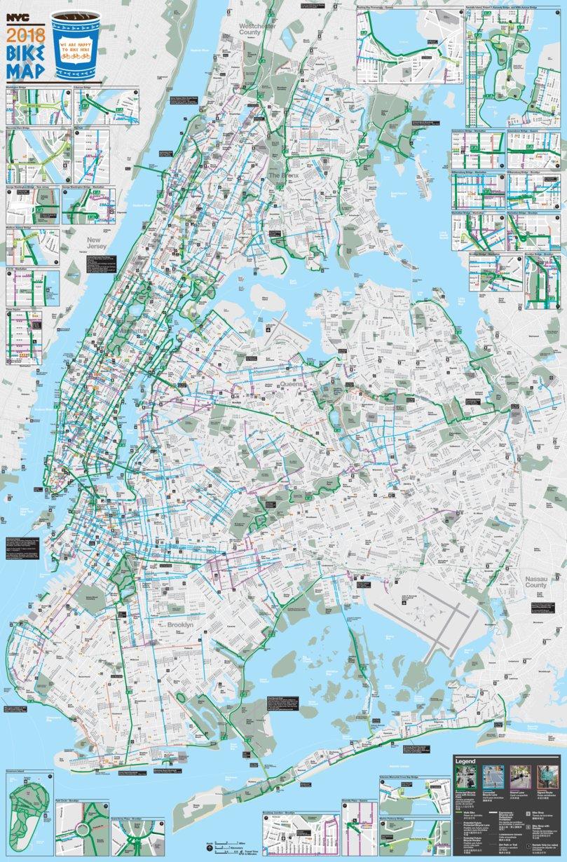 New York City Bike Map - Full Map - Avenza Systems Inc. - Avenza Maps