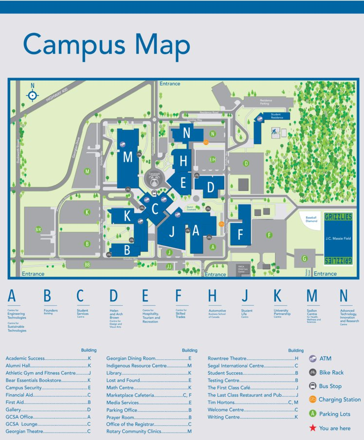 Georgian College Barrie Campus Map Avenza Systems Inc Avenza Maps