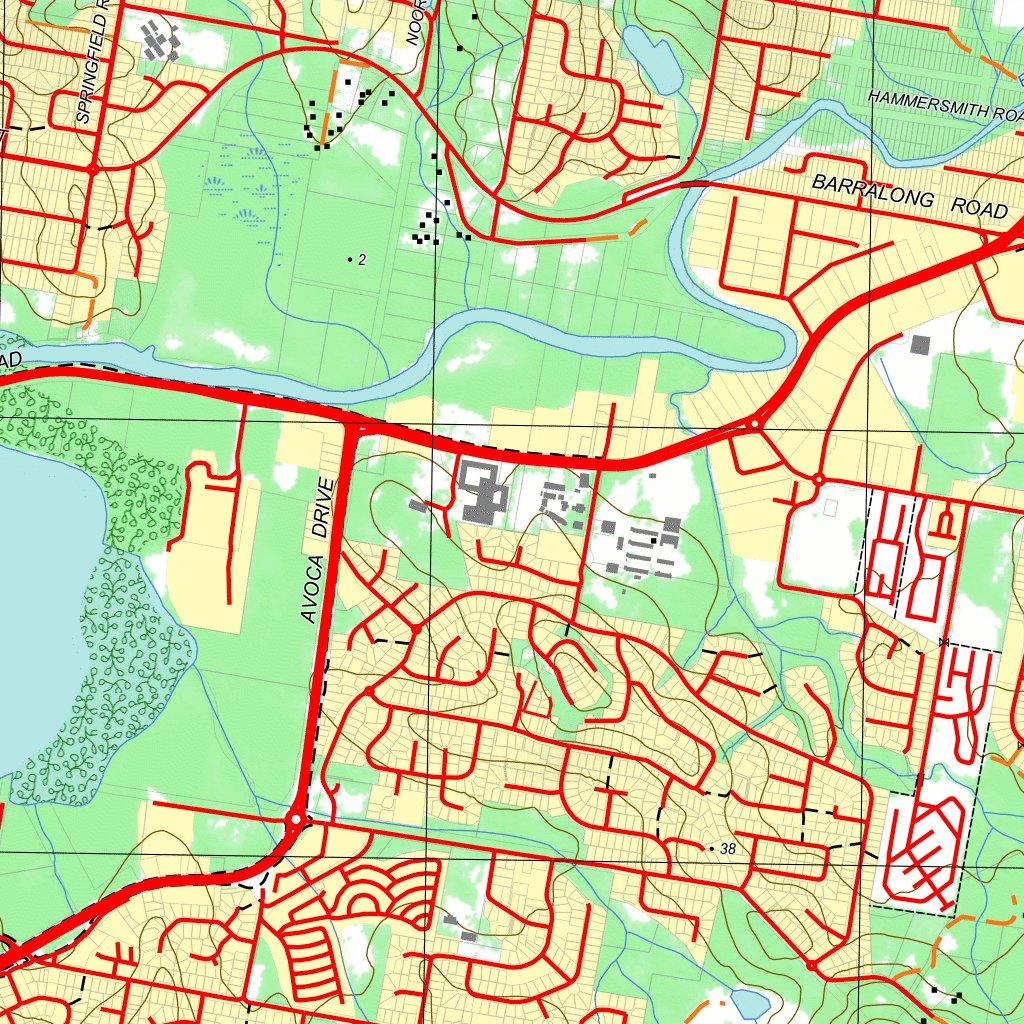 91312S GOSFORD nswtopo Avenza Maps