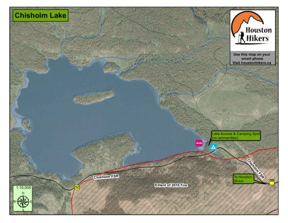 Chisholm Lake Houston BC Houston Hikers Society Avenza Maps