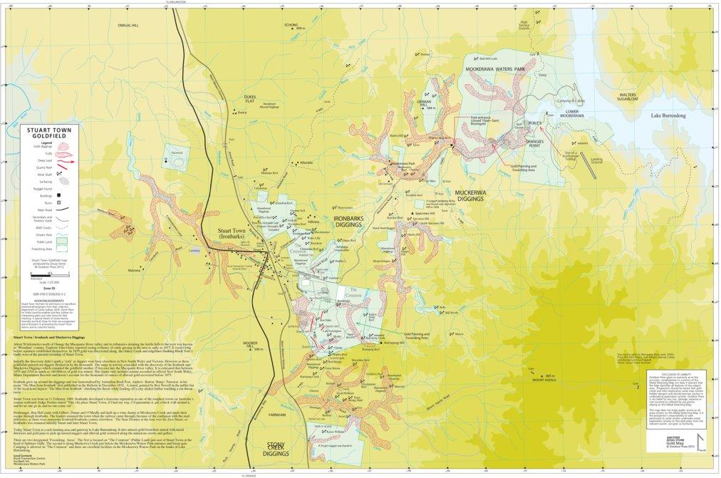 Stuart Town Gold Map - Doug Stone GOLD MAPS - Avenza Maps
