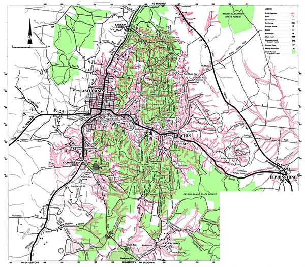 Castlemaine-Fryerstown Gold Map - Doug Stone GOLD MAPS