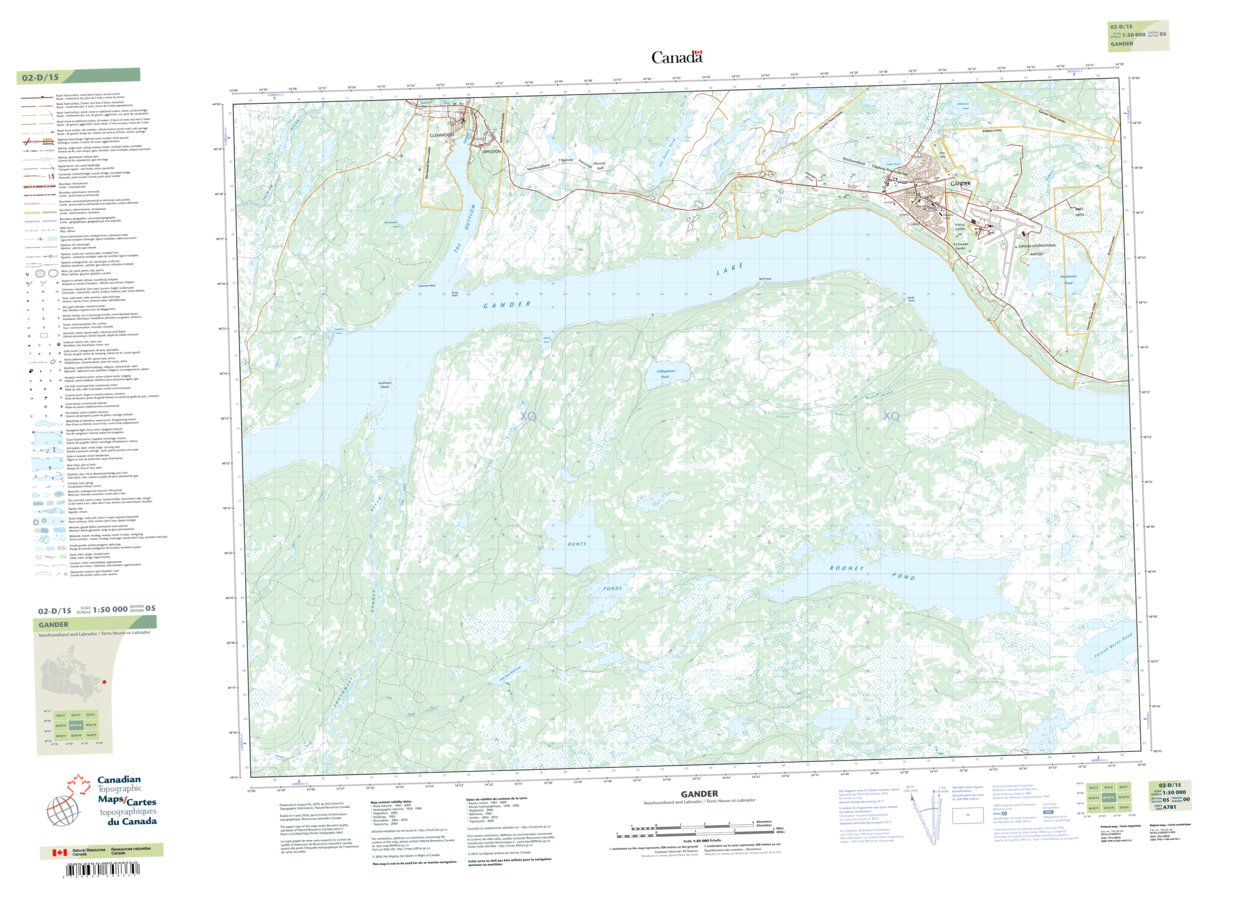 Gander Canada Map.002d15 Gander Natural Resources Canada Avenza Maps