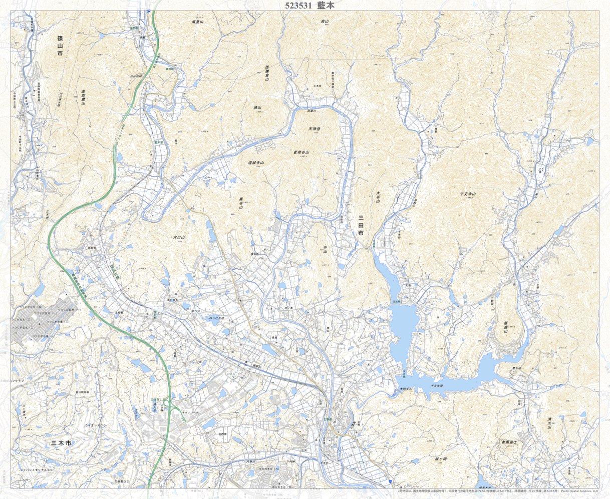 523531 藍本(あいもと Aimoto), 地形図