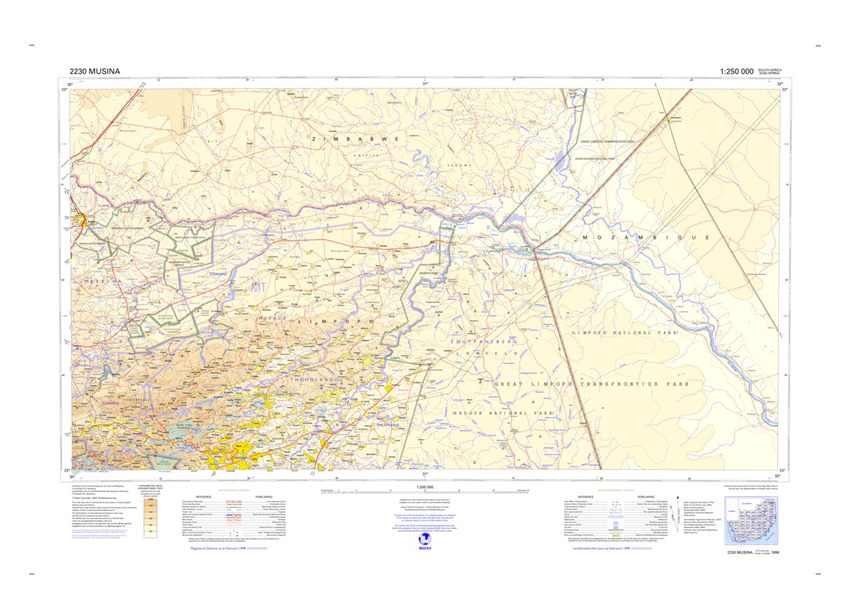 2230 Musina Chief Directorate National Geo Spatial Information Avenza Maps