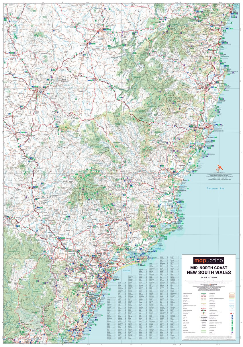 MidNorth Coast NSW mapuccino Avenza Maps