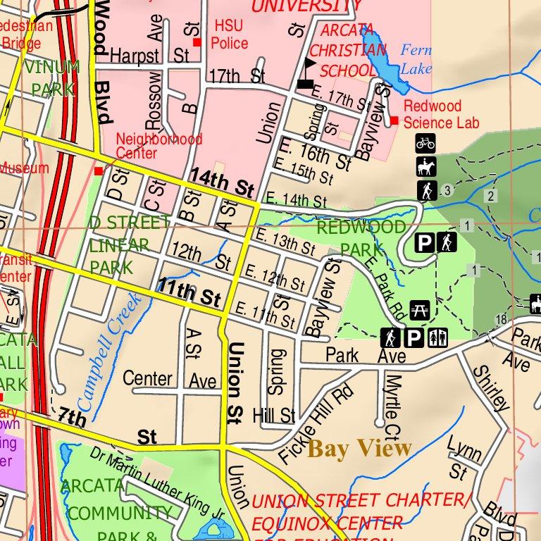 City of Arcata Street Map City of Arcata Avenza Maps