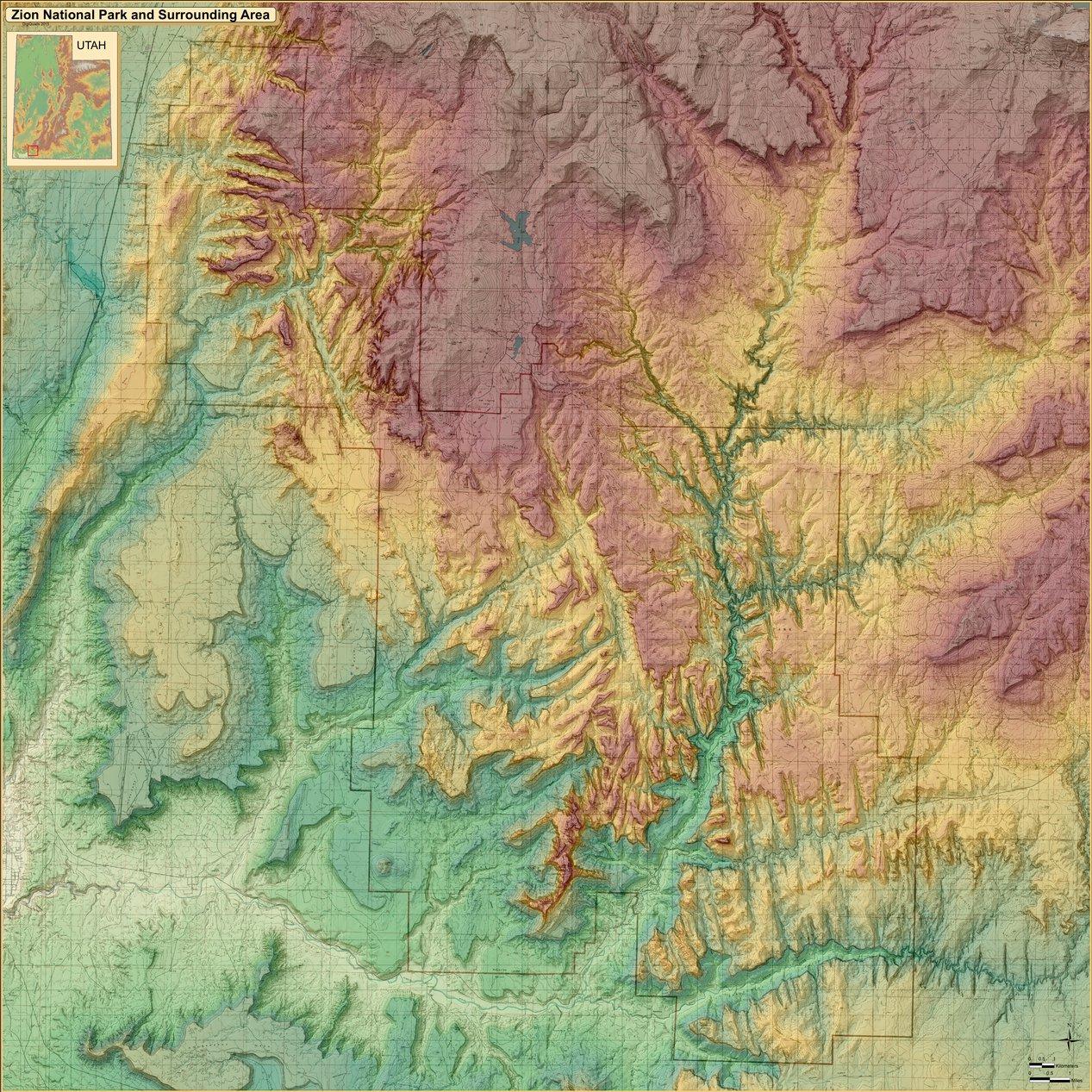Zion National Park Map - DigiQuads - Avenza Maps