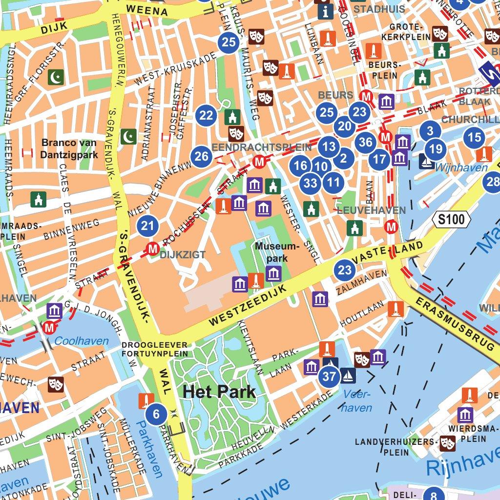 Rotterdam Free Map - 12 Provinciën - Avenza Maps
