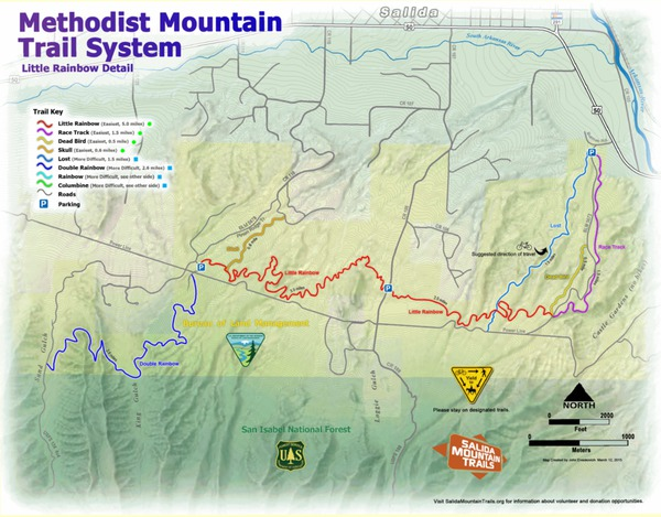 Methodist Mountain Trail System Detail
