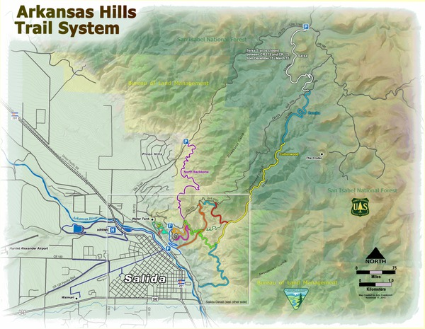 Arkansas Hills Trail System Overview