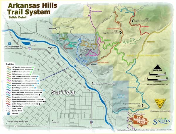 Arkansas Hills Trail System Detail