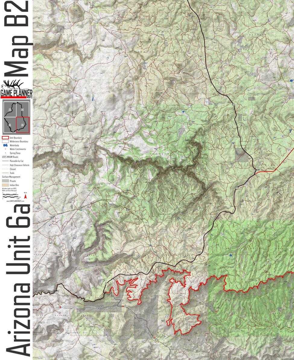 Unit 6a Arizona Map.Arizona Unit 6a Game Planner Maps Avenza Maps