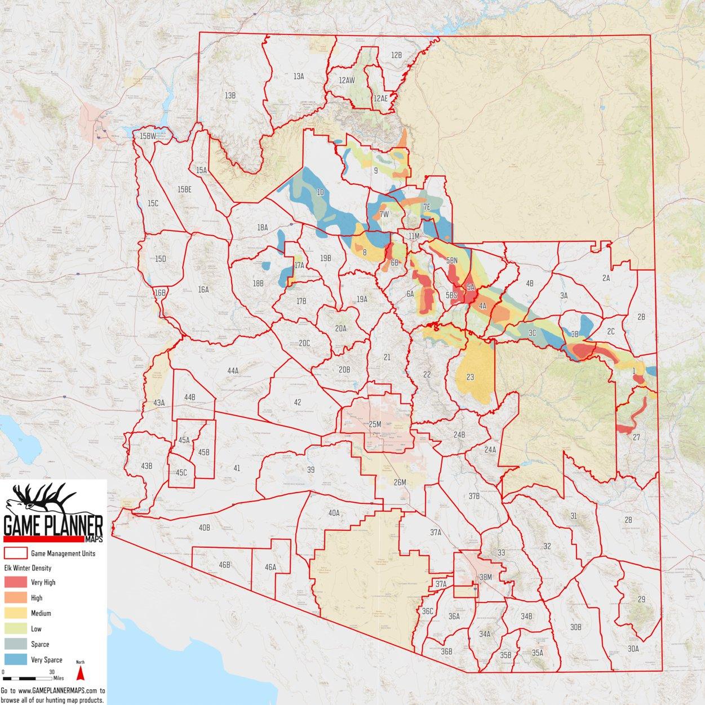 Arizona Winter Elk Density - Game Planner Maps - Avenza Maps on arizona government, minnesota map, arizona tempe, hawaii map, arizona info, arizona trees, arizona resorts, arizona weather, louisiana map, arizona mileage chart, arizona lakes, arizona counties, arizona rivers, arizona geographical features, arizona terrain, maine map, arizona postcard, arizona cities, new jersey map, wisconsin map, arizona mountains, arizona geography, arizona outline, arizona towns, missouri map, illinois map, arizona flag, montana map, iowa map, arizona usa,