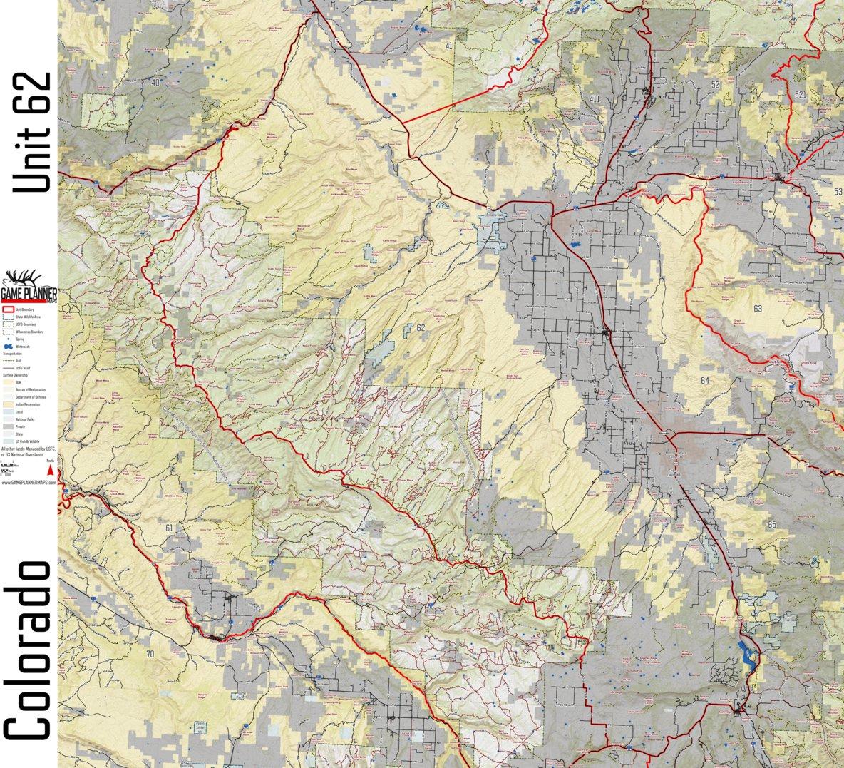 Colorado Unit 62 - Game Planner Maps - Avenza Maps
