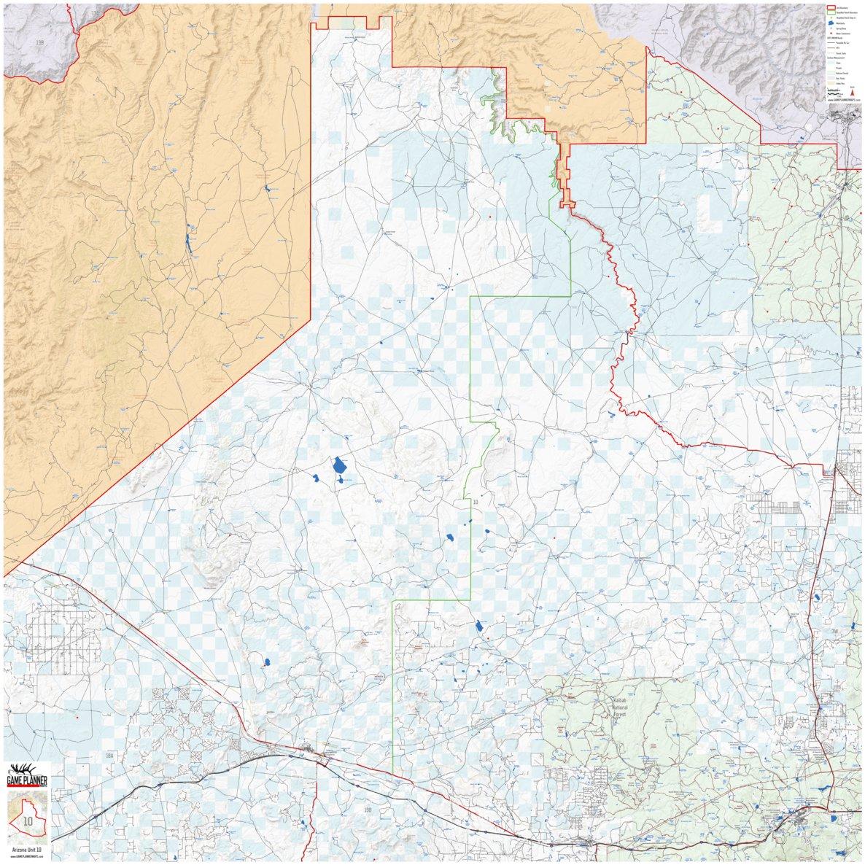 Map Of I 10 Arizona.Arizona Unit 10 Game Planner Maps Avenza Maps