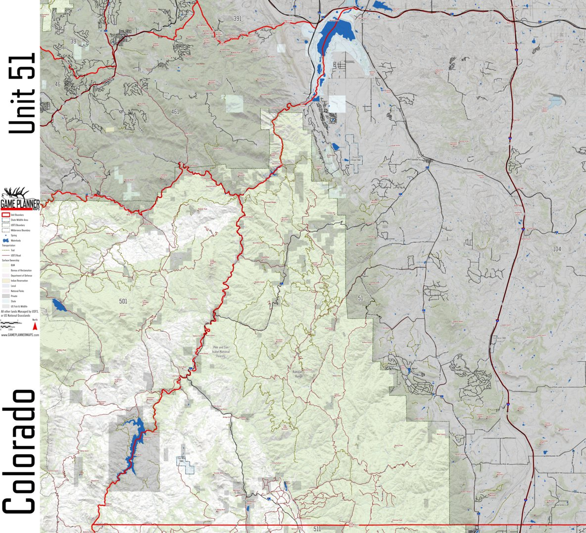 Colorado Unit 51 - Game Planner Maps - Avenza Maps