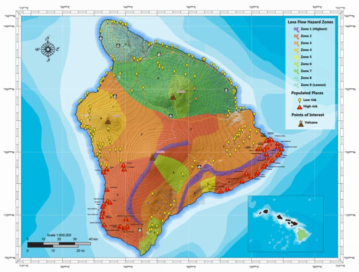 Hawaii Lava Flow Hazard Map - Jeff Cable - Avenza Maps