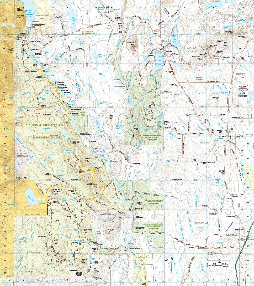 Katahdin Woods & Waters Trail Map Bundle - Map Adventures ...