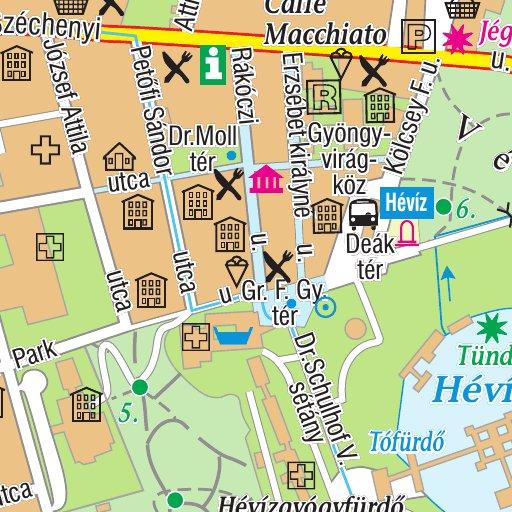 Heviz City Map Varosterkep Szarvas Andras Private Entrepreneur
