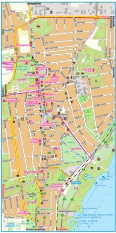 Keszthely City Map Varosterkep Szarvas Andras Private