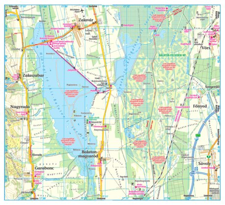 Kis Balaton Turistaterkep Tourist Map Szarvas Andras Private