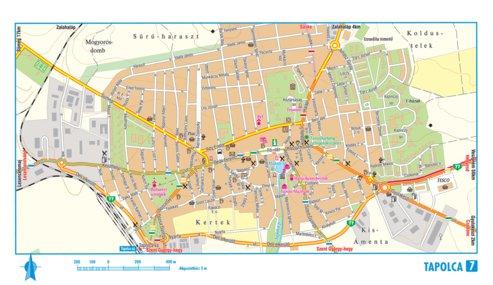 tapolca térkép Tapolca city map, várostérkép   Szarvas András private  tapolca térkép