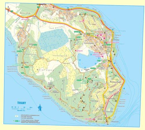 tihany térkép Tihany turistatérkép, tourist map   Szarvas András private  tihany térkép
