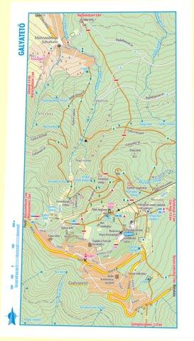 galyatető térkép Galyatető turista biciklis térkép, tourist biking map   Szarvas  galyatető térkép