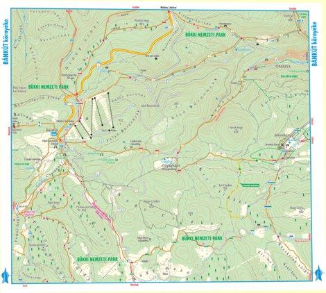 bánkút térkép Bánkút turista biciklis térkép, tourist, biking map   Szarvas  bánkút térkép