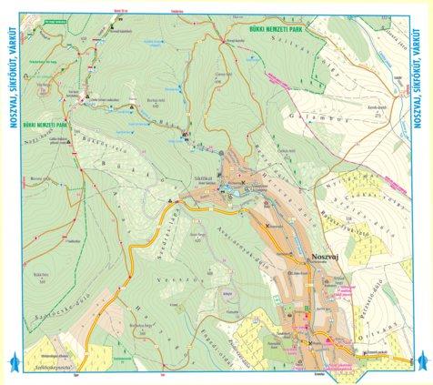 terkep Noszvaj  Síkfőkút turista biciklis térkép, tourist, biking map