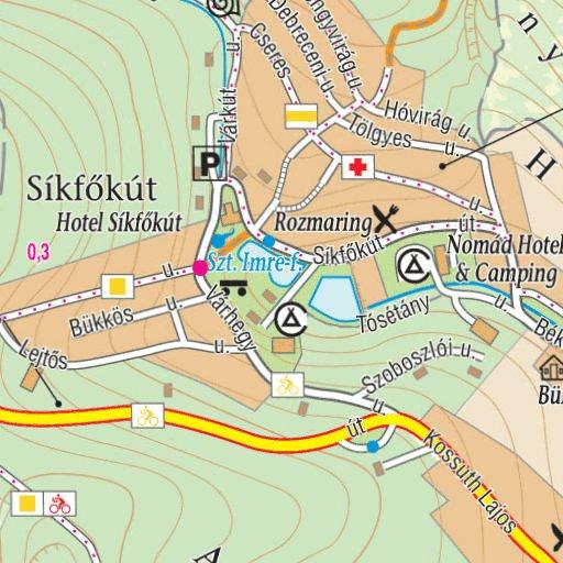 noszvaj térkép Noszvaj  Síkfőkút turista biciklis térkép, tourist, biking map