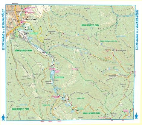 szalajka völgy térkép Szilvvásvárad Szalajka völgy turista biciklis térkép, tourist  szalajka völgy térkép