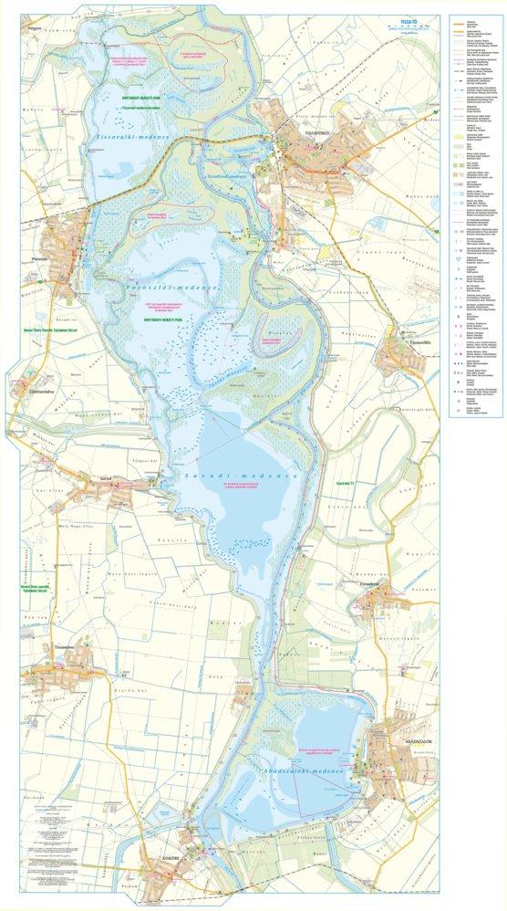 Tisza To Turista Biciklis Vizisport Els Horgasz Terkep Tisza