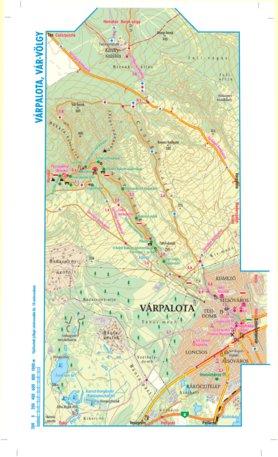 várpalota térkép Várpalota Várvölgy turista, biciklis térkép, tourist biking map  várpalota térkép