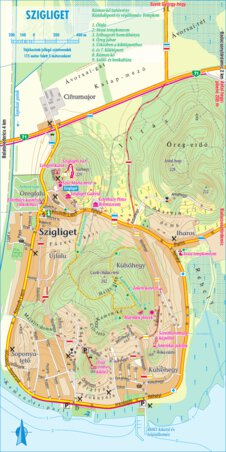 Szigliget Turistaterkep Tourist Map Szarvas Andras Private