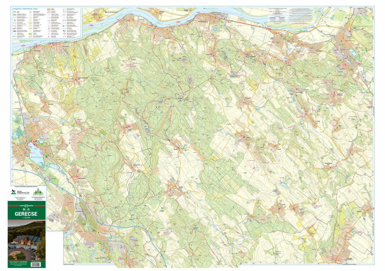 Gerecse Turista Biciklis Terkep Tourist Biking Map Szarvas
