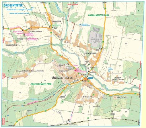 Oriszentpeter Turistaterkep Tourist Map Szarvas Andras Private