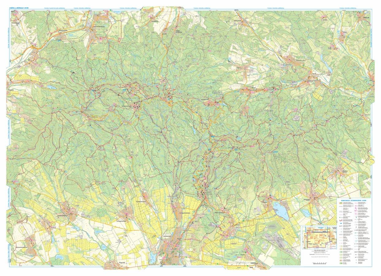 Matra Matraalja Turista Es Biciklis Terkep Tourist Biking Map